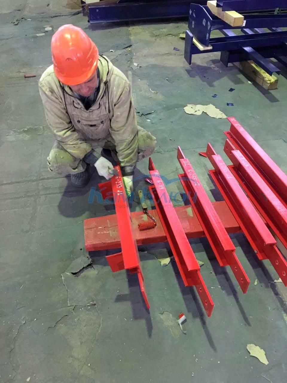 Фото покраски металлоконструкций в своём цеху