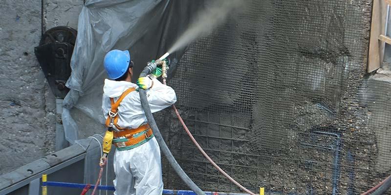 Фото АКЗ железобетонной стены при строительстве