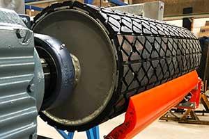 Фото барабана со свежими футеровочными пластинами